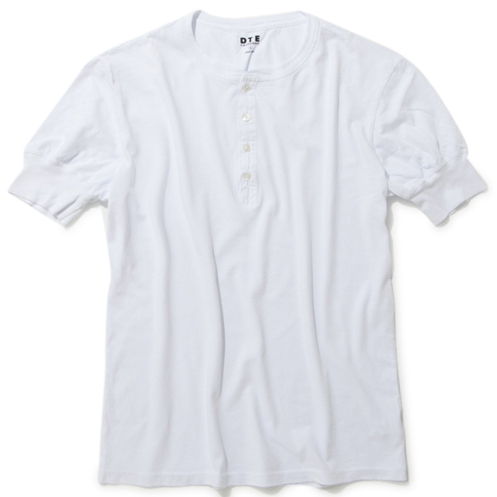 S/S HENLEY NECK/WHITE