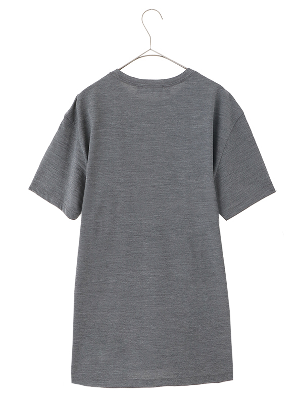 Wool T-Shirts W/Contrast Slash Chest Pocket/GREY