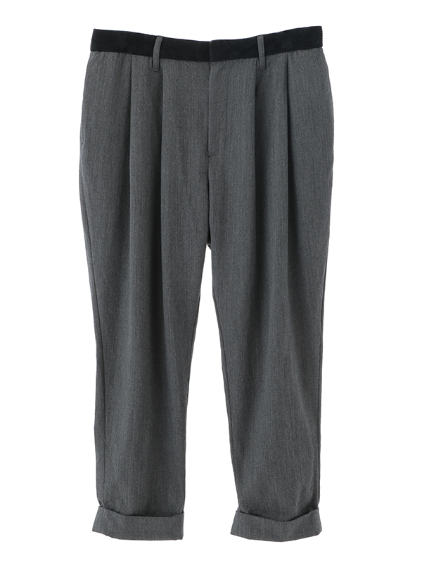 Tapared 2Pleats Cropped Pants