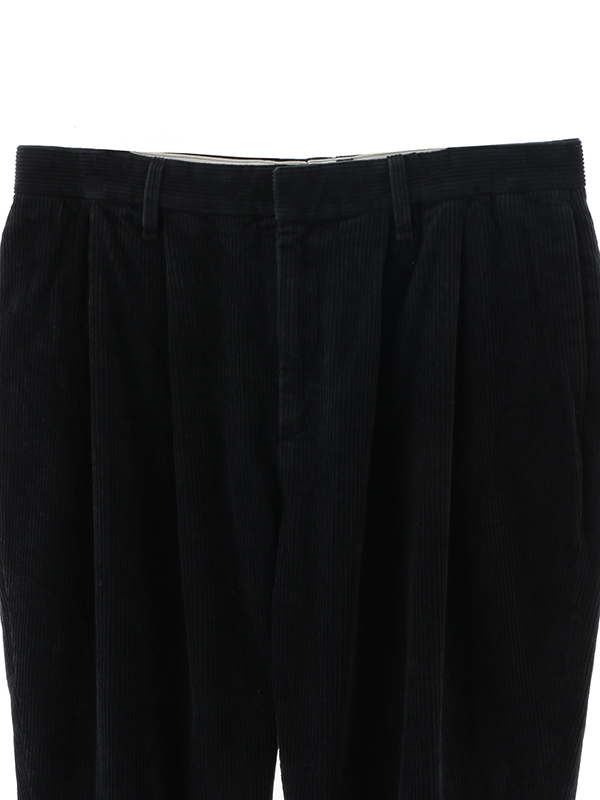 Tapared 2Pleats Cropped Pants Corduroy
